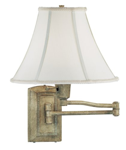 Kenroy Home 30950SGR Isabelle Wall Swing Arm Lamp, Seagrass