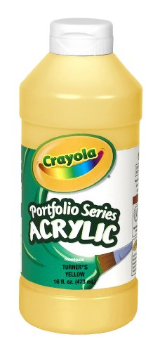 Crayola Portfolio Series 16-Ounce Acrylic Paint, Turner's Yellow