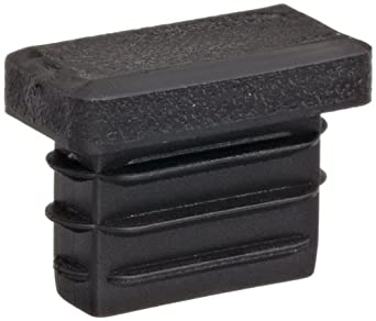 Kapsto 270 R 2510 1.5 - 2 Polyethylene Rectangular Plug, Black, 25x10 mm (Pack of 100)