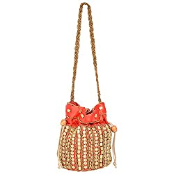 Lazaaro International LZ019 Potli Handbag (RED)