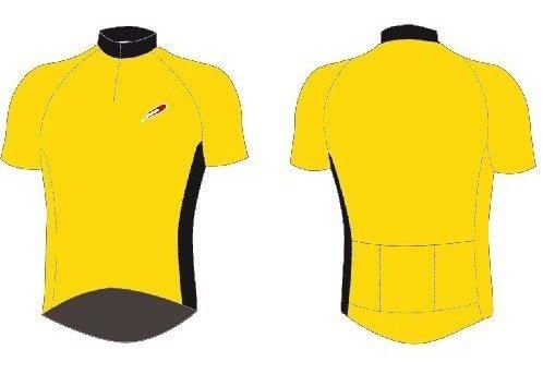 maglia ciclismo janson jat colore giallo misura xxl
