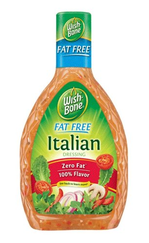 Wish Bone Salad Dressing, Fat Free Italian, 16-Ounce Bottles (Pack of 6)