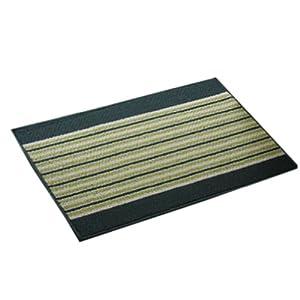 "Simple Stripe Floor Carpet Non-slip Cotton Doormats Rugs Green 14.9""*22.8"" from Panda Superstore"