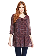 Indigo Collection Diamond Print Tunic