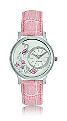 Geneva Platinum Analog Silver Dial Womens Watch- GP-186