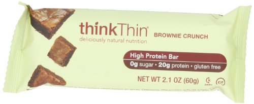 thinkThin Brownie Crunch, Gluten Free, 2.1-Ounce Bars (Pack of 10)