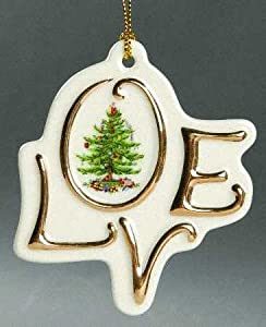 Spode Christmas Tree Ornament - Love