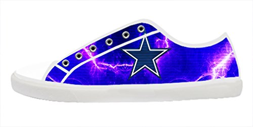 Renben Awesome NFL Nonslip Dallas Cowboys Men's Canvas Shoes Lace-up Low-top Sneakers Fashion Running Shoes