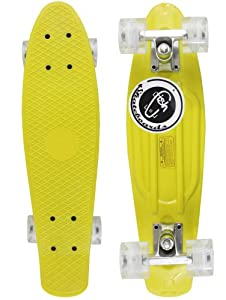 Buy Skateboard LED Flashing Wheels Blank Plastic City Cruiser Penny Size 22 by Fish Brand