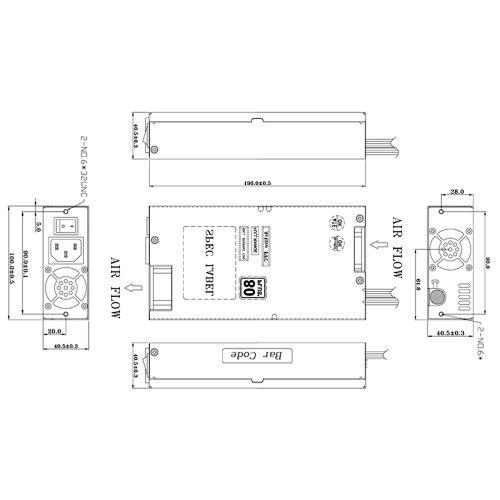 fsp group 300w atx power supply 1u size for rack mount