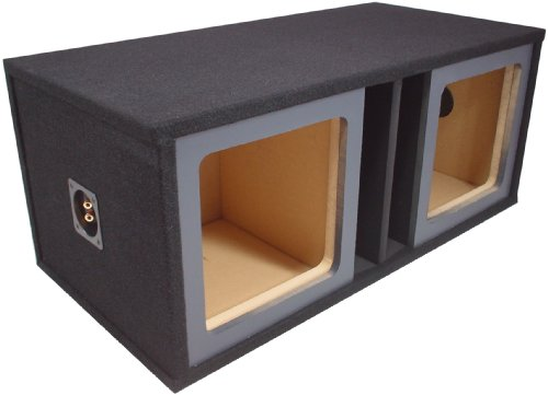"Asc Dual 15"" Kicker Square L3 L5 L7 Subwoofer Paintable Baffle Slot Vented Port Sub Box Speaker Enclosure"