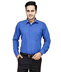 Frankline Men's Formal Shirt (Frankline-57_ Blue _42)
