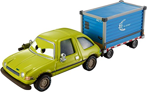 Disney/Pixar Cars, Airport Adventure 2015 Series, Deluxe Acer with Luggage Cart Die-Cast Vehicle, #3/6, 1:55 Scale