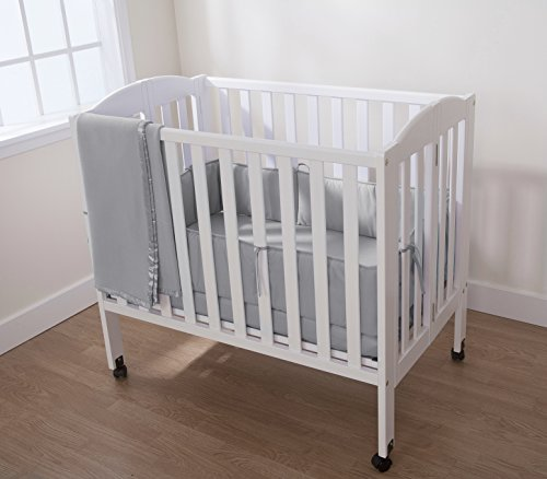american baby company 100 cotton percale portable mini crib bumper gray vehicles parts vehicle. Black Bedroom Furniture Sets. Home Design Ideas