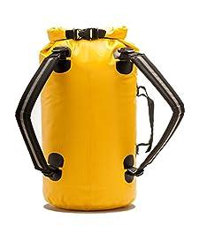 Aqua Quest Mariner 20 - 100% Waterproof Dry Bag Backpack - 20 Liter, Durable, Comfortable, Lightweight, Versatile - Yellow