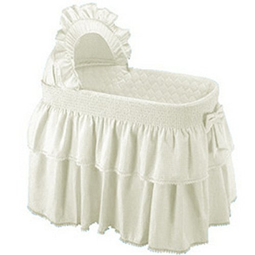 Baby Doll Paradise Rainbow Bassinet Bedding Set, Ecru
