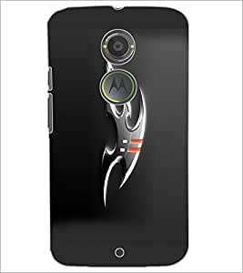 PrintDhaba Ninja Weapons D-1053 Back Case Cover for MOTOROLA MOTO X2 (Multi-Coloured)