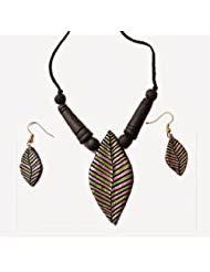 48raft terracotta handmade ethnic jewellery Jean set for Women