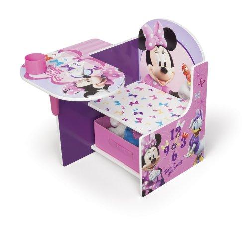 Minnie-Mouse-Tisch-Stuhl-Kombination-mit-Staufach-Rosa