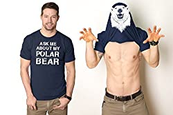 Ask Me About My Polar Bear T Shirt Funny Bears Flip Tee from Crazy Dog Tshirts