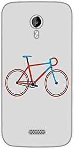 Snoogg minimal cycle ride Designer Protective Back Case Cover For Micromax A116