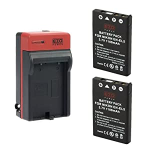 Ezopower En El5 Batteries And Mh 61 Ac Charger Replacement