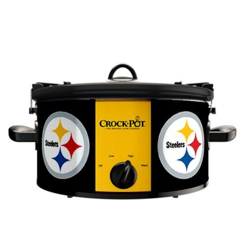 Digital Slow Cookers: Official NFL Pittsburgh Steelers Crock-pot Cook & Carry 6 Quart Slow Cooker