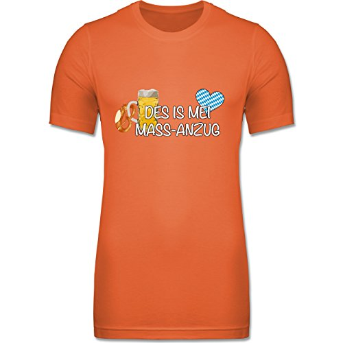 Shirtracer CV3001 - Figurbetontes Männer Shirt - XL - Orange - Oktoberfest Herren - Mass-Anzug