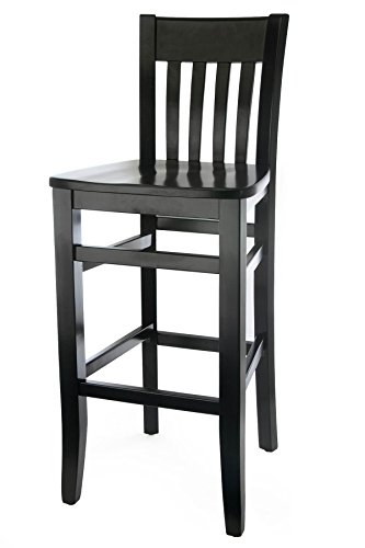 Beechwood Mountain BSD-34B-B Solid Beech Wood Bar Stool in Black for Kitchen and dining (Black Wood Bar Stools compare prices)