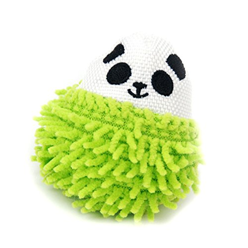 Small Squeaky Cat Toys,Lovly Tough Ball Puppy Gift,Stuffing with Squeaker dog Toy Green