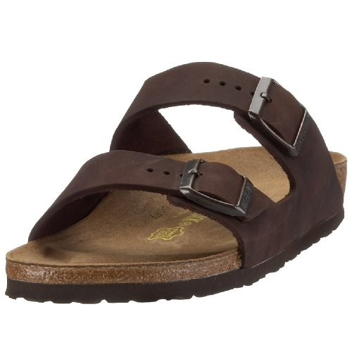 Birkenstock Arizona Natural Leather, Style-No. 52533, Unisex Clogs, Habana, EU 41, slim width