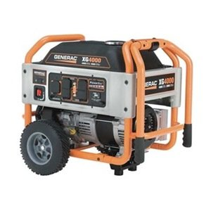 Generac Portable Generator, Rated Watts 4000, 220cc