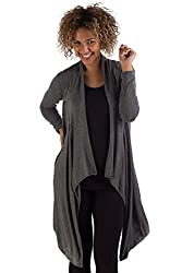 HSW313 S/M Grey Heather BambooDreams Sweater 'Hilary' Long Wrap