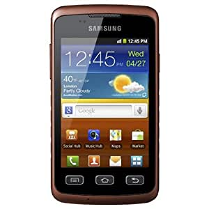 Samsung Galaxy Xcover S5690 Smartphone (9,3 cm (3,65 Zoll) Display, Touchscreen, 3,0 Megapixel Kamera, Android 2.3) black-orange