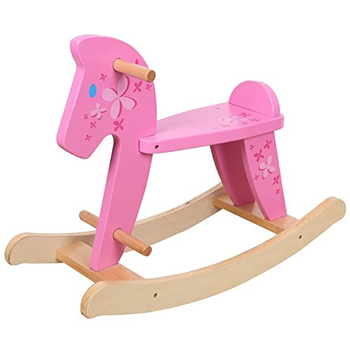 Hessie Baby Classic Rocking Horse - Pink front-562415