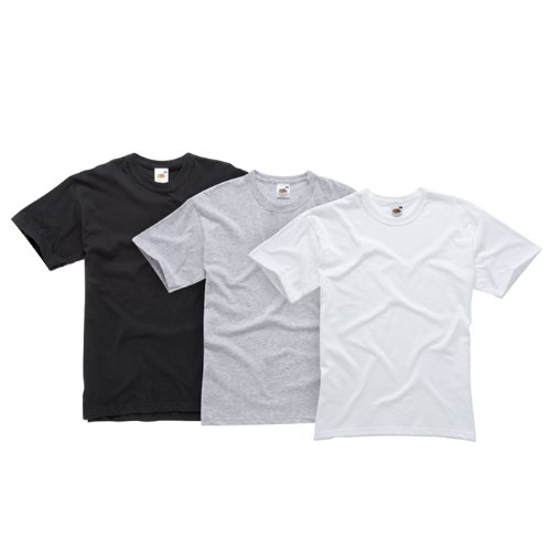 Fruit of the Loom Men's American Original 3-Pack T-Shirt Coloured - Large