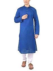 Rajubhai Hargovindas Men's Linen Blended Long Kurta