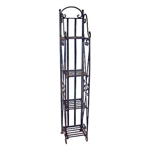Home Decor Furniture Narrow Iron Etagere Shelf Storage