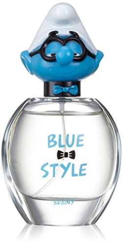 The Smurfs Brainy 3D Blue Style, Eau de Toilette spray I Puffi Bambino, 50 ml
