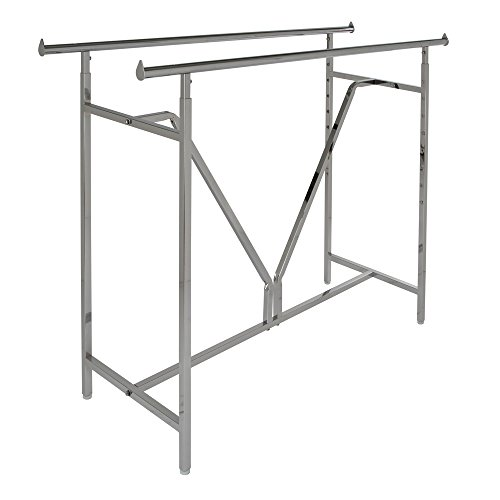 Econoco Adjustable Heavy Duty | Double Bar Rectangular Rack with V-Brace (Heavy Duty Rack compare prices)