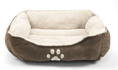 Sofantex Pet Line Medium Size Pet Beds Paw Print (Dark Coffee)