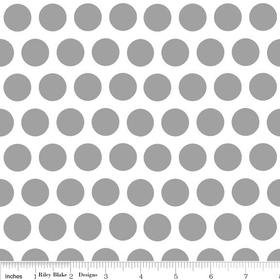 Mystique Dot Gray Yardage by Lila Tueller for Riley Blake Designs SKU# c3084-gray