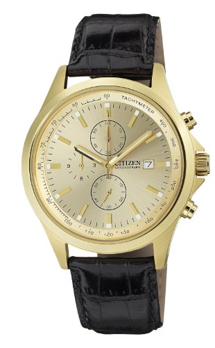 Citizen Chronograph Gold Dial Men'S Quartz Watch - An3512-03P