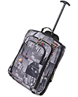 """5 Cities Carry On Wheeled Travel Trolley Bag 21"""" & 18"""" Lightweight Hand Luggage/ On Board Cabin Rolling Luggage Bags"""