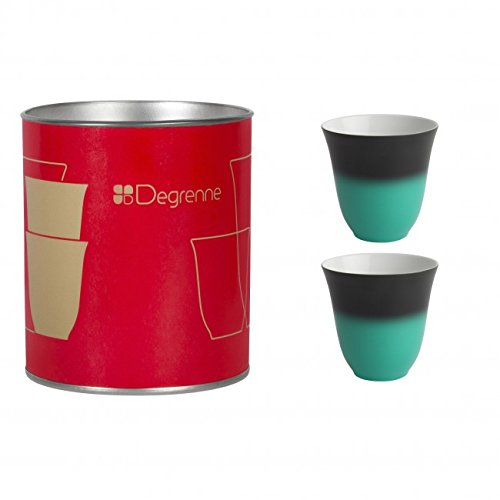 Coffret de 2 tasses à moka Illusions anthracite