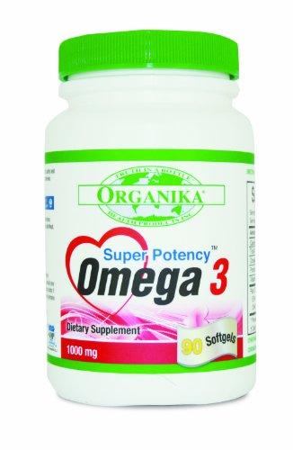 Organika Super Potency Omega 3, 1000 Mg, Softgels, 90-Count