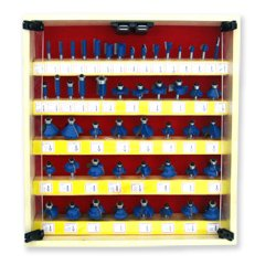 Neiko Tools USA 50 piece Tungsten Router Bit Set, 1/4