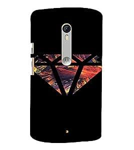 PrintVisa Modern Art Diamond Design 3D Hard Polycarbonate Designer Back Case Cover for Motorola MotoXStyle