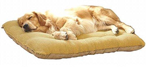wan nyan paradise 犬 猫 等 ペット ぐっすり眠る ふんわり ベッド マット クッション (M, 茶)
