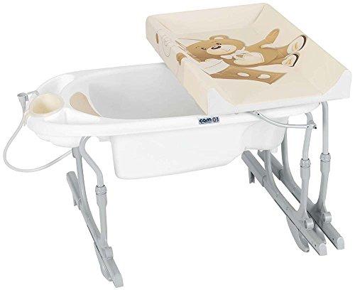 Cam Il Mondo Del Bambino C518 Idro Baby Estraibile Bagnetto per Vasca da Bagno, Orso, Beige